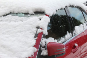 Car covered with snow